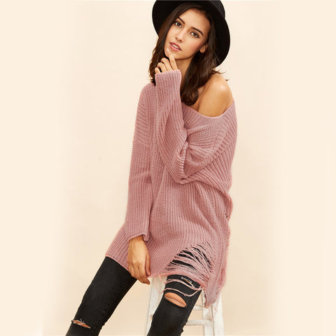 Women Loose Tops Casual Knitwear