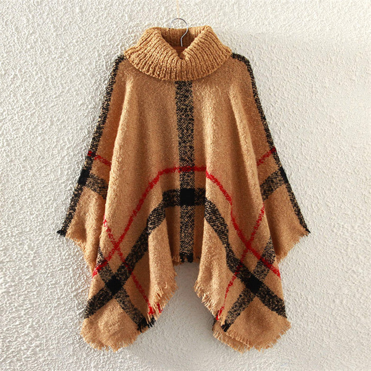 Women Knitted Ponchos And Capes Coat - Chic128
