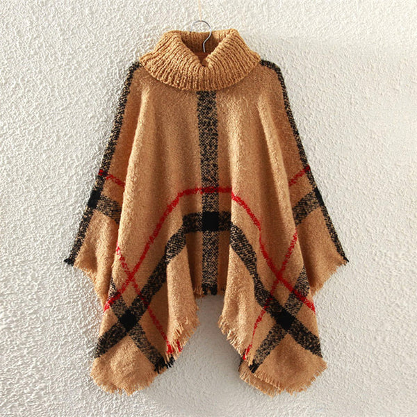 Women Knitted Ponchos And Capes Coat