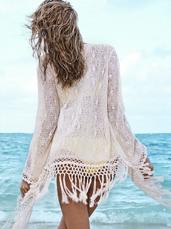 Women's Sexy Crochet Hollow Out Cover-ups Dress - Chic128