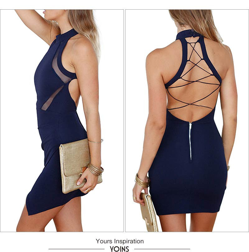 03140c03caed ... Sexy Back Hollow Out Wrap Front Bodycon Dress - Chic128 ...