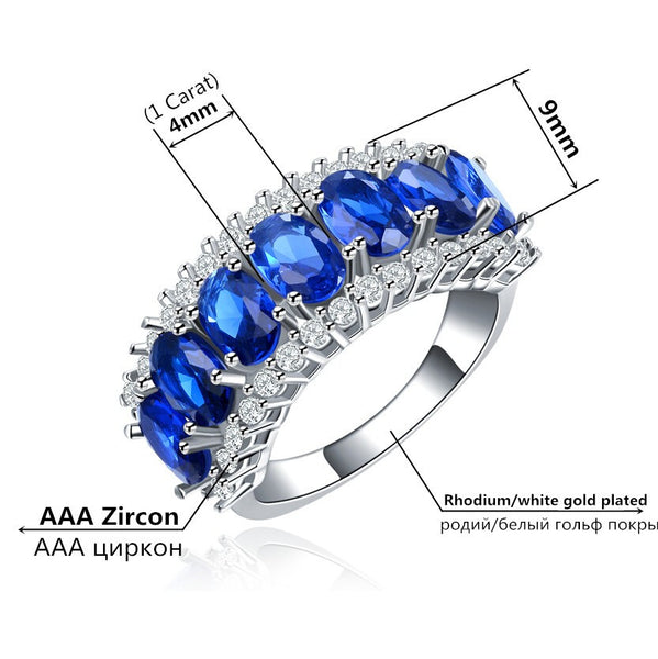 Crystal Sapphire Jewelry Engagement Rings - Chic128