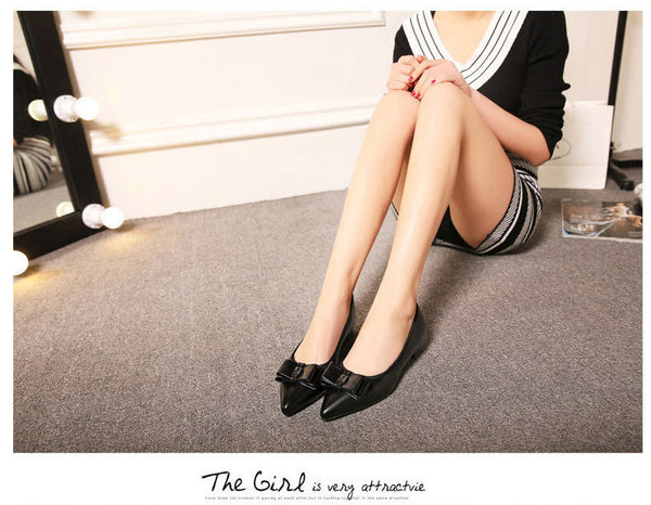 Classic White Black Flats Shoes - Chic128