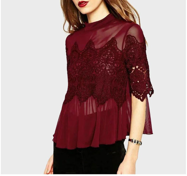 Elegant Sexy Loose Ladies Shirt - Chic128