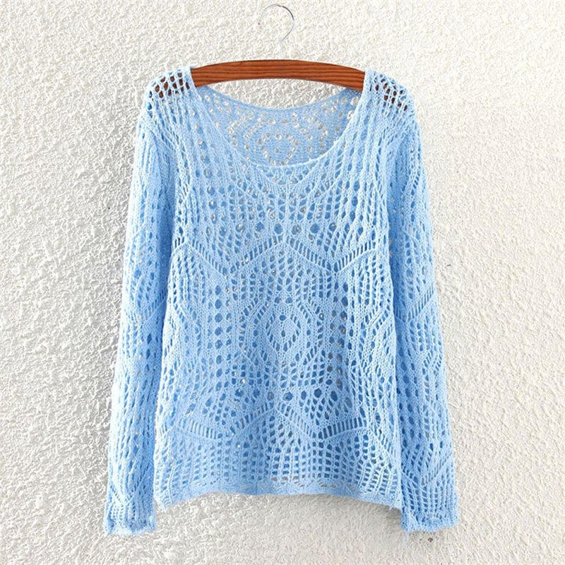 Solid Color O-Neck Knitted Sweater