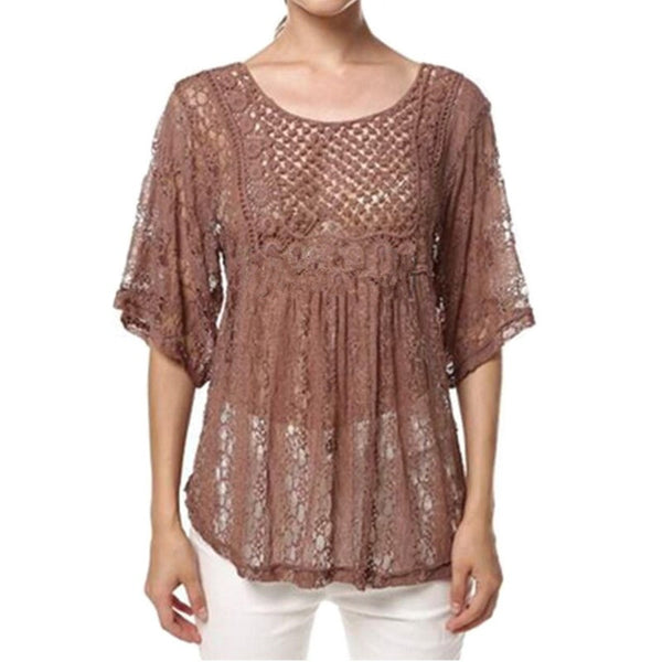 Sexy Lace  Blouses - Chic128
