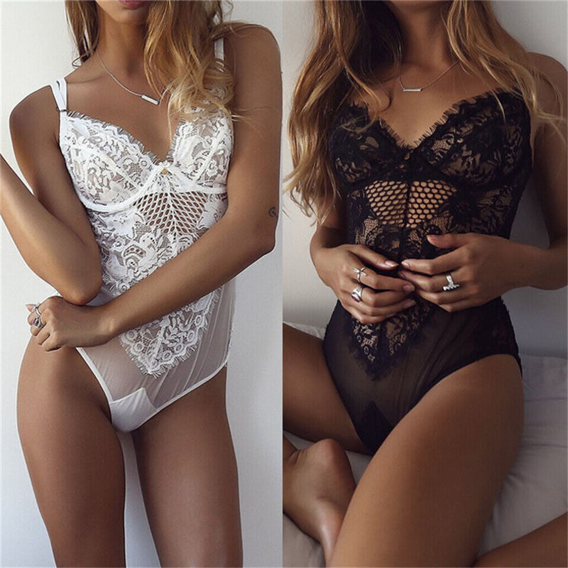 Sexy Lingerie Lace Dress Babydoll Nightwear Sleepwear - Chic128