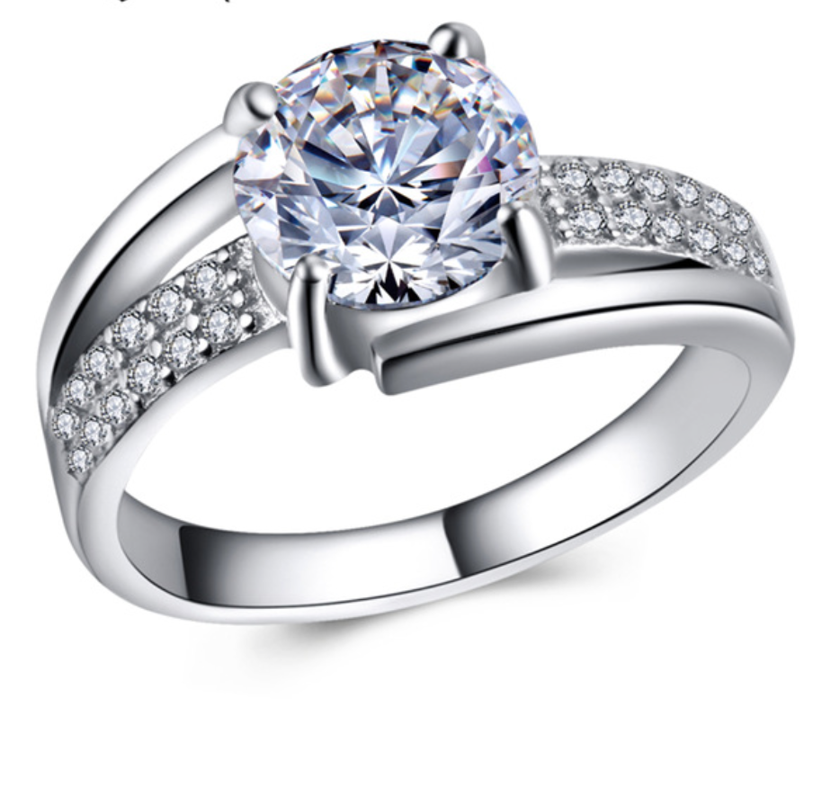Round Diamond Engagement Rings For Women - Chic128