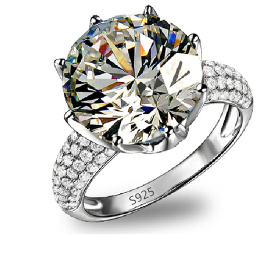 Diamond Jewelry Wedding Engagement Fashion Ring - Chic128