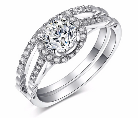 Round Wedding Ring Sets - Chic128