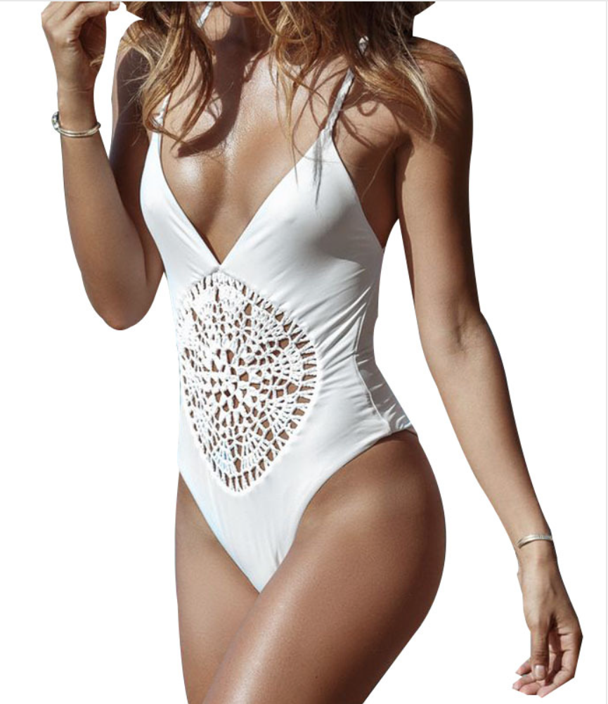 Women Rompers Lace Up Sexy Bodysuit - Chic128