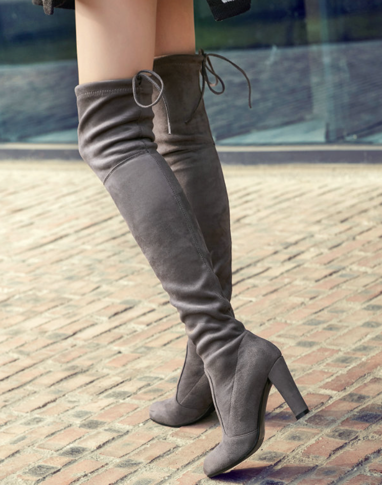 27a6a95d78 ... Sexy Fashion Stretch Faux Suede Over the Knee Boots - Chic128 ...