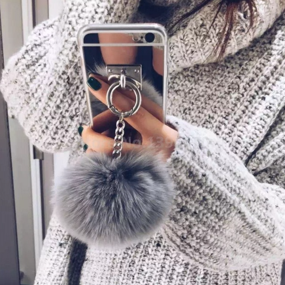 Silver Metal Rope Mirror phone Back Cover For iPhone, Samsung,Galaxy - Chic128