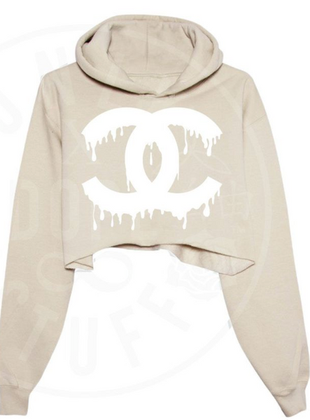 Drip Couture Cropped Hoodie - Chic128