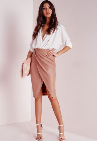 Sexy Ladies Pu Leather Long Skirt