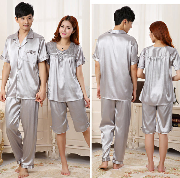 Silk couple Pajamas - Chic128