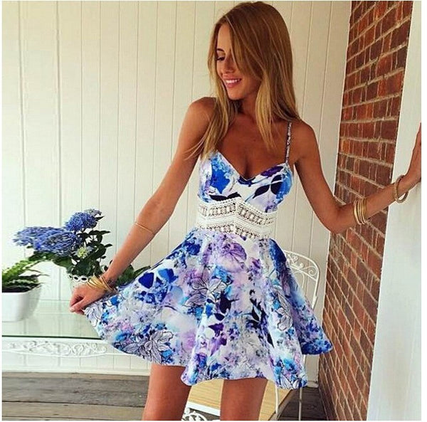 Summer Cute Floral Print Dress - Chic128