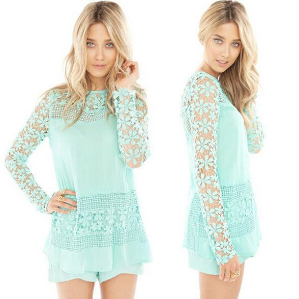 Hollow Crochet Tops - Chic128