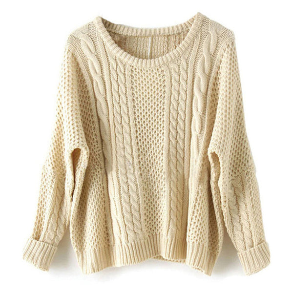 Vintage Designer Small Twist Wool Sweater
