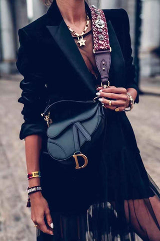 DIOR OBLIQUE SADDLE BAG - Chic128