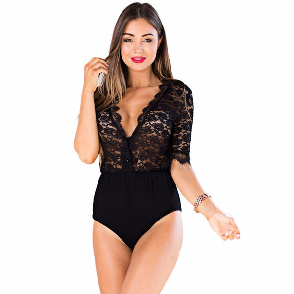 Women Elastic Sexy Sheer Jumpsuit - Chic128
