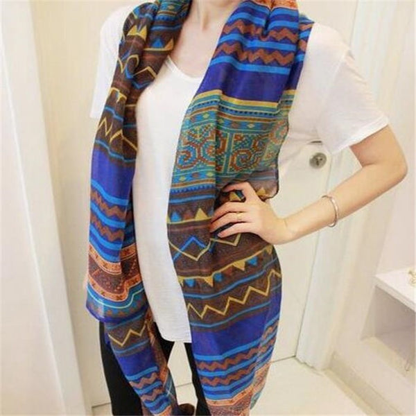 Women's Long Print Scarf - Chic128