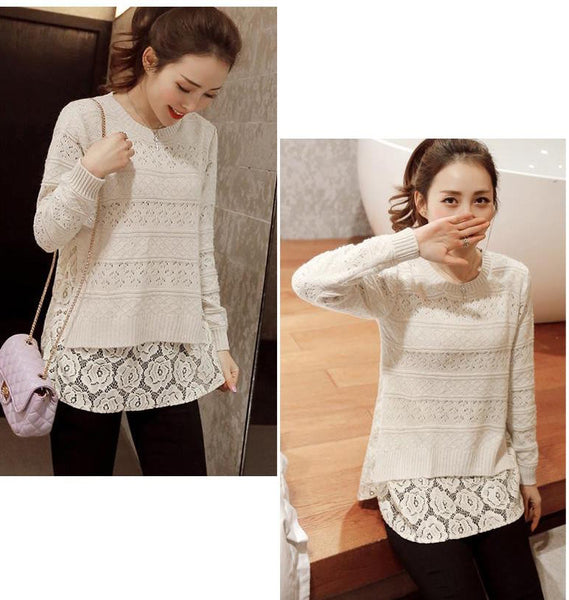 Women's New Lace Bottoming Sweaters