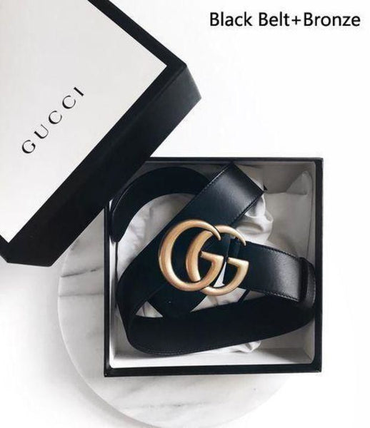 GUCCI Stylish Women Simple Smooth Buckle Leather Belt on sale for holiday gift - Chic128
