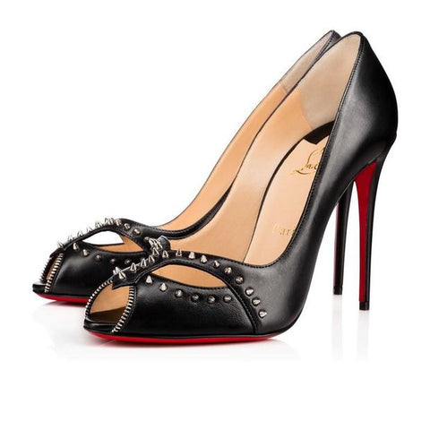 Christian Louboutin Fashion Rivets Pointed Heels Shoes - Chic128