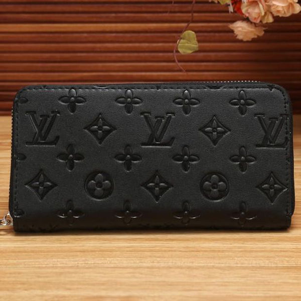 Women Shopping Fashion Leather Zipper Wallet Purse - Chic128