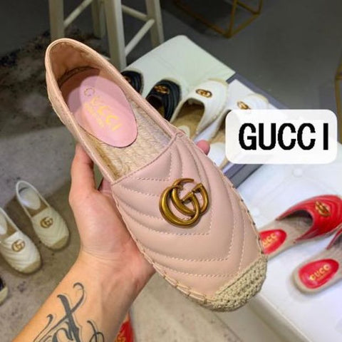 GUCCI Fashion Women Casual Leather Single Shoe
