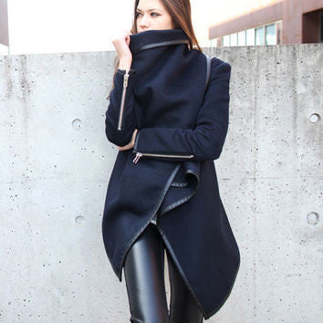 Trench Winter Woolen Long Sleeve Women's Coats - Chic128