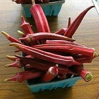 Red Velvet Okra - Southern Heirloom