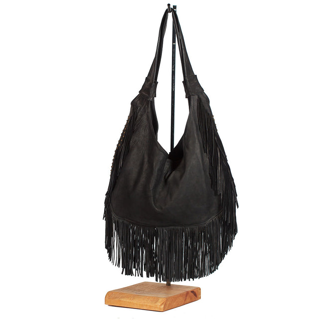 Juan Antonio Leather Fringe Bag