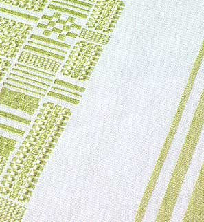 PF894 Green/White Tablecloth