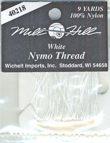 40218 White Nymo Thread, Mill Hill Beads