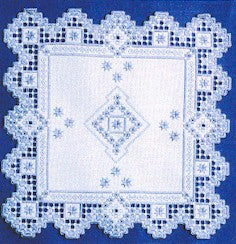 Snowflakes, Satin Stitches