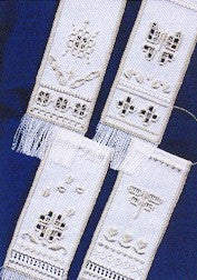 Petite Marsh Life Banners, Satin Stitches