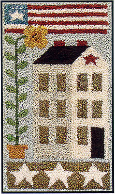 American Saltbox, Punchneedle, Little House Needleworks