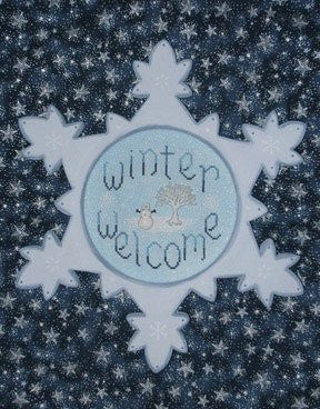 Winter Welcome w/buttons, Waxing Moon Designs