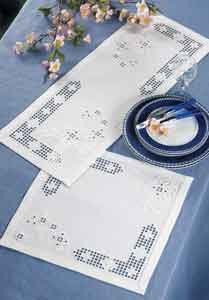 108665 Hardanger White Tablecloth