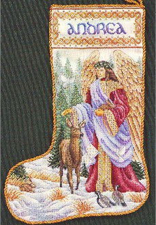 Woodland Angel Stocking, Teresa Wentzler Desings