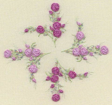 1517 Maria\'s Rose, Pattern w/White, EdMar Brazilian Embroidery