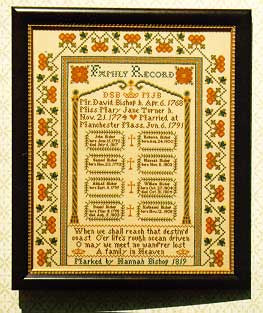 Family Record Sampler, Hestors Needle