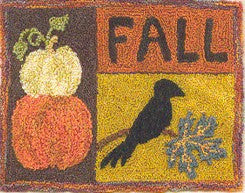 Fall Harvest, Punchneedle, Designs From the Ppe\'r Pot