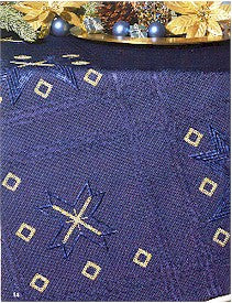 PF222 Dark Blue Squares Tablecloth