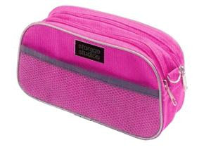 Accessory Organizer-Pink & Black with Polka Dots
