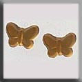 12122 Butterfly Matte Light Topaz, Treasures, Mill Hill Beads
