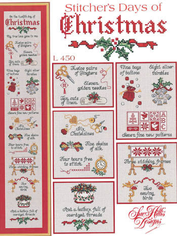 Stitcher\'s Days Of Christmas, Sue Hillis Designs