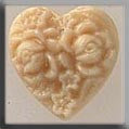 12066 Cameo Heart - Ivory, Glass Treasures, Mill Hill Beads